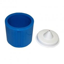 Силиконовая опока цилиндрической формы, размер - 6, диаметр -  62 mm + Цилиндрическое основание размер -6, диаметр - 62 mm